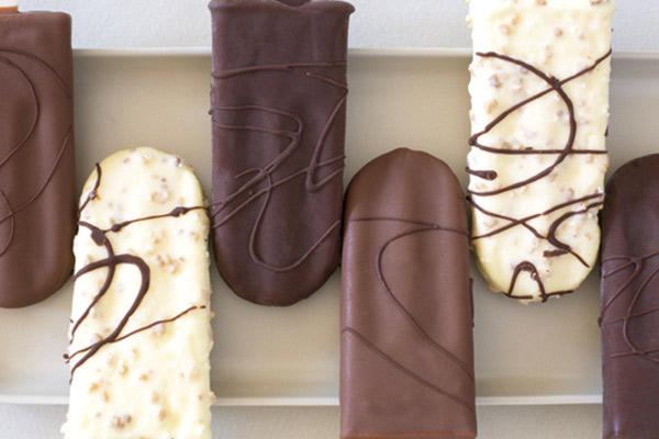 4 Battonets glacés au chocolat
