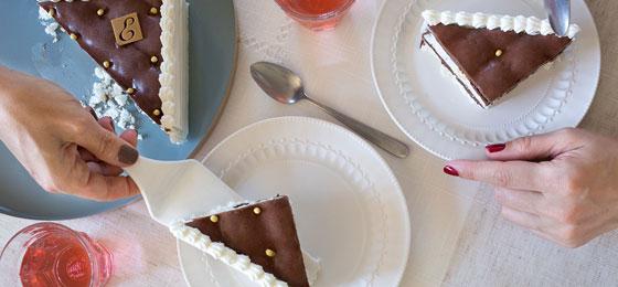 Vacherin chocolat-vanille